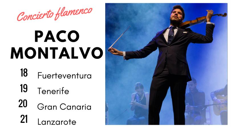 Flamenco violín por primera vez en las islas